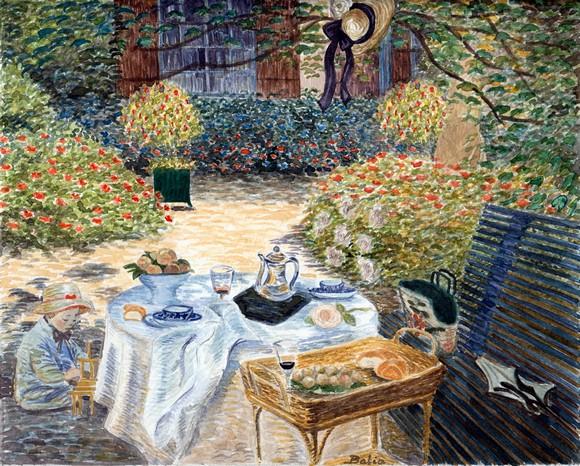 השראה של מותג B-ART - שולחן ערוך בגינה