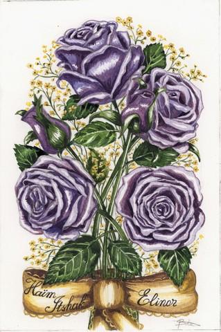השראה של מותג B-ART תמונת זר פרחים עם סרט